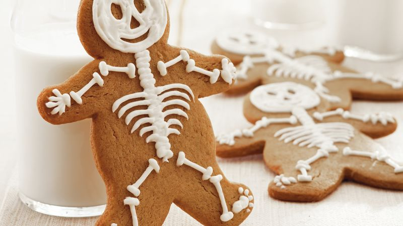 gingerbread skeletons - Halloween Gingerbread Cookies