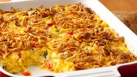 Cheesy Mexican Corn Bake