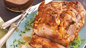 Roast Pork with Garlic Onion Gravy
