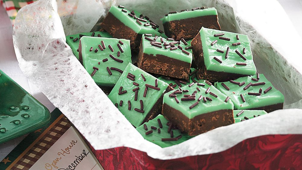 Layered Mint-Chocolate Fudge