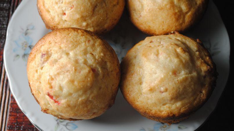 Muffins de Fresa y Queso Crema