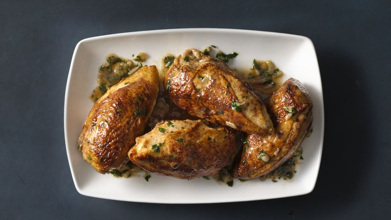 Seared Chicken Breasts with Herbed Shallot Sauce