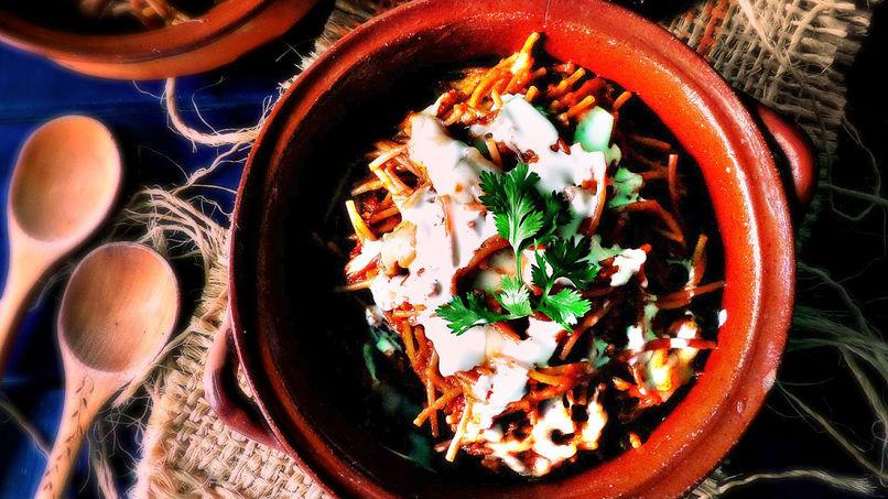 Sopa Mexicana con Fideos y Chorizo