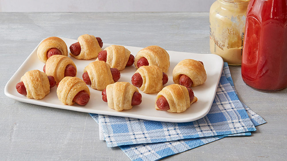 Hot Dogs Wrapped In Cresents