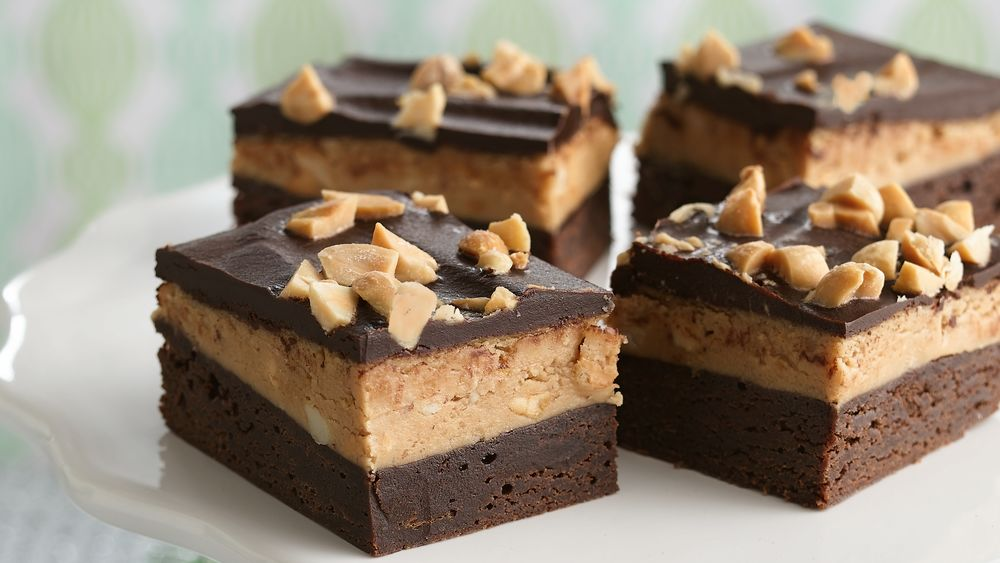 Dark Chocolate-Peanut Butter Brownies