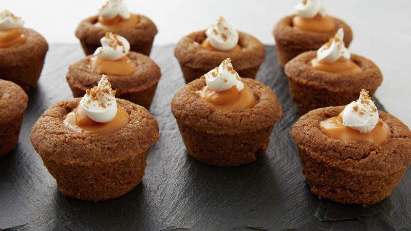 Mini Ginger Pumpkin Pudding Pies