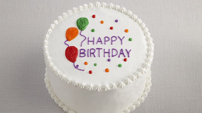 Cake Decoration Balloons : Happy Birthday Balloon Cake Recipe - BettyCrocker.com