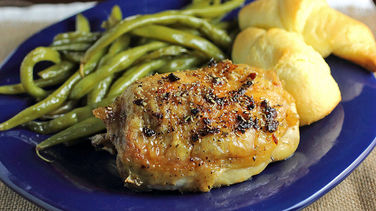 Garlic Butter and Rosemary Pan-Roasted Chicken