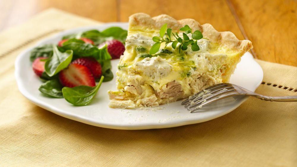 Herbed Chicken And Broccoli Quiche Recipe From Pillsburycom-3467