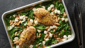 Sheet-Pan Italian Chicken, White Beans and Spinach for Two