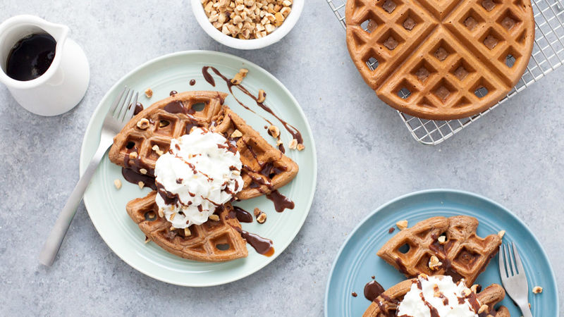 Nutella Crunch Waffles