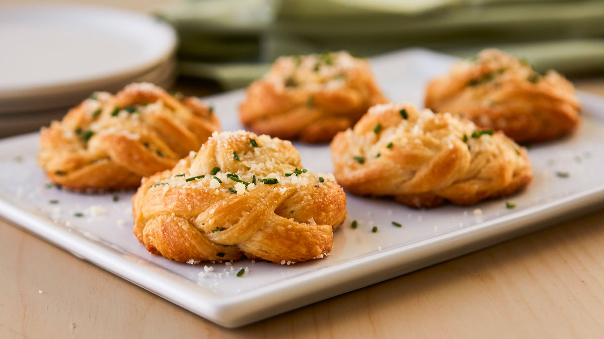 Parmesan-Herb Braided Crescent Rounds