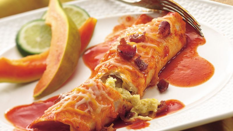Bacon and Egg Enchiladas