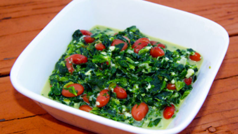 Spinach with Beans