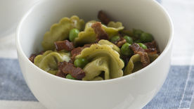 Tortellini with Bacon and Peas