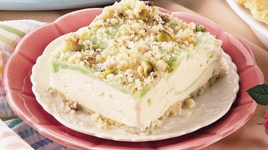 Pistachio-Lime Ice Cream Squares