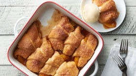 Peach Crescent Dumplings