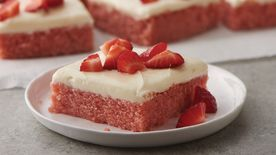 Strawberries and Cream Sheet Cake