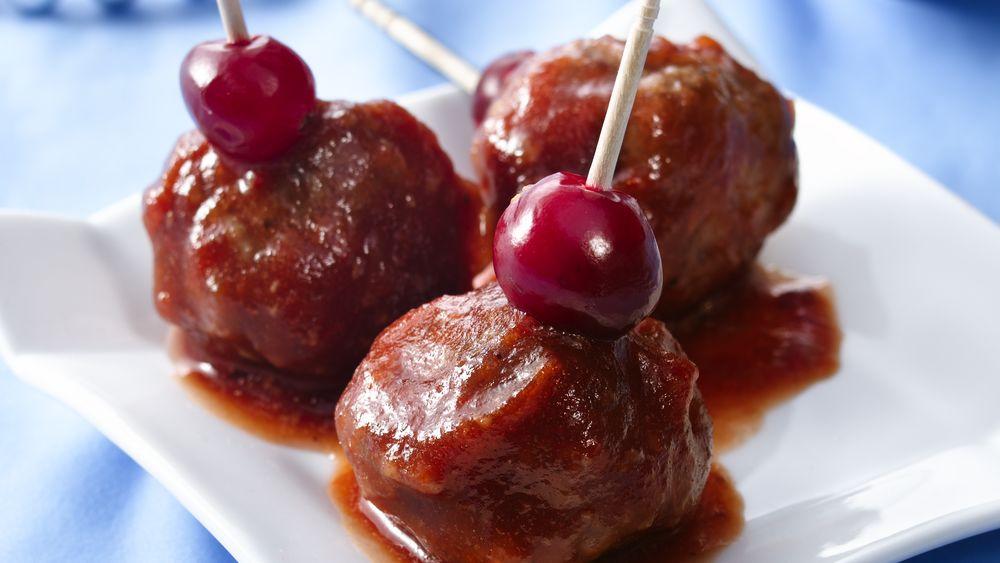 Cranberry-Glazed Appetizer Meatballs