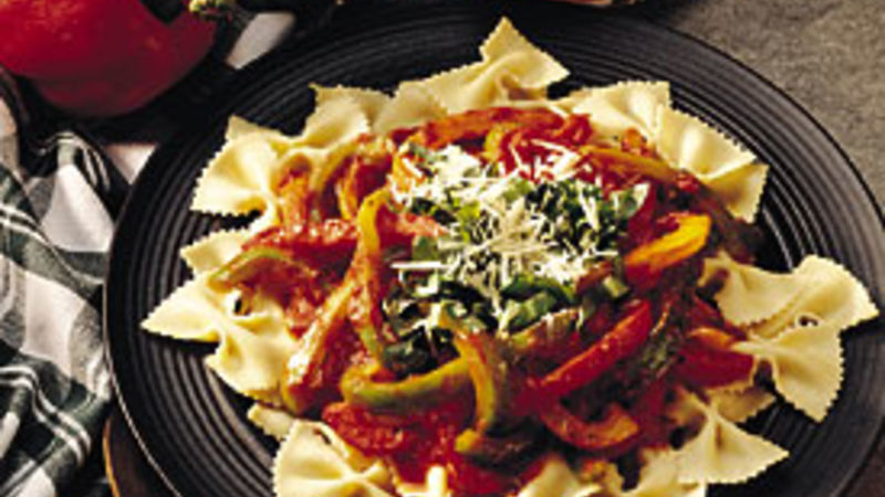 Three-Pepper Pasta