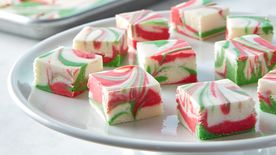 3-Ingredient Christmas Swirl Fudge