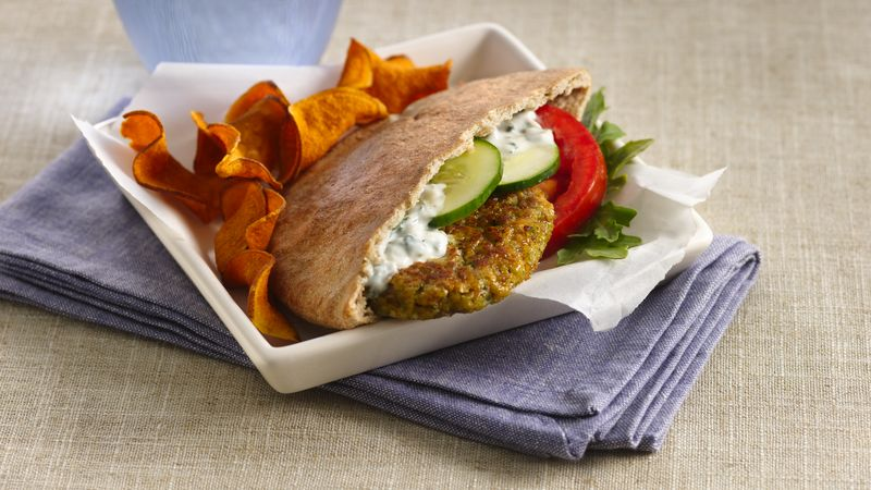 Falafel Sandwiches with Yogurt Sauce