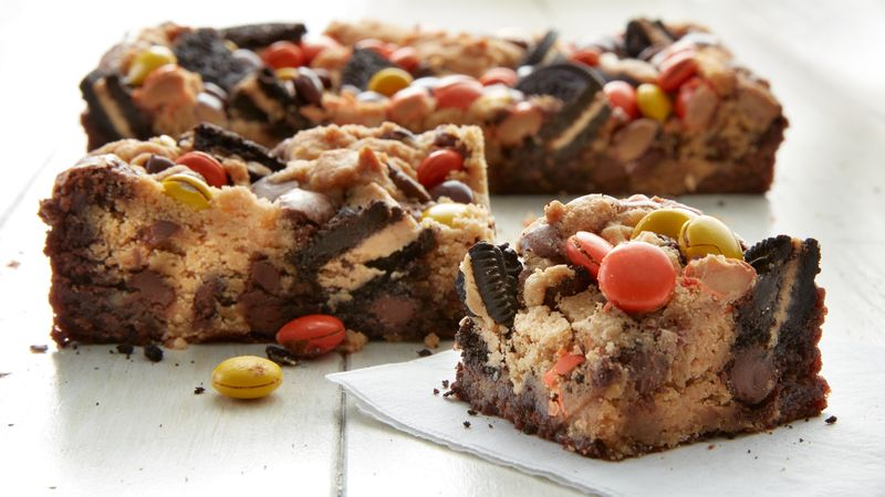 Peanut Butter Lovers Brookie Bars