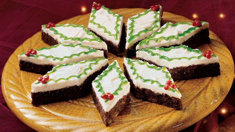 Holly-Day Mint Brownies