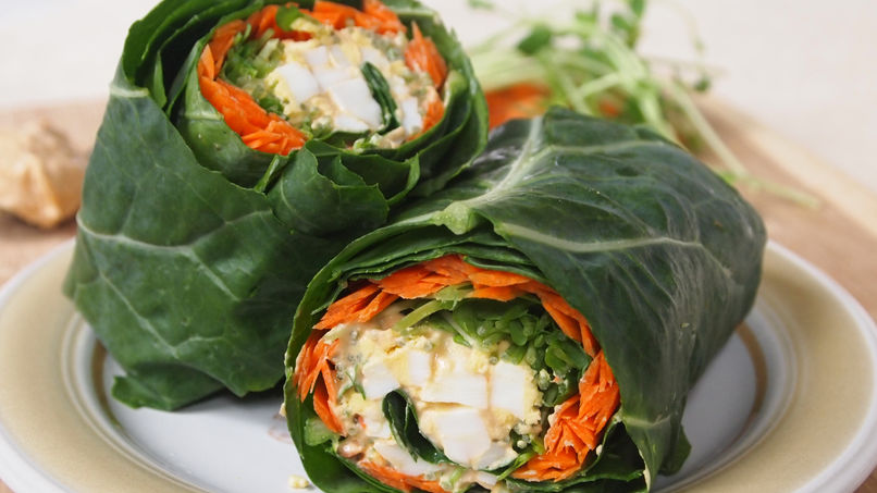 Egg and Carrot Wraps