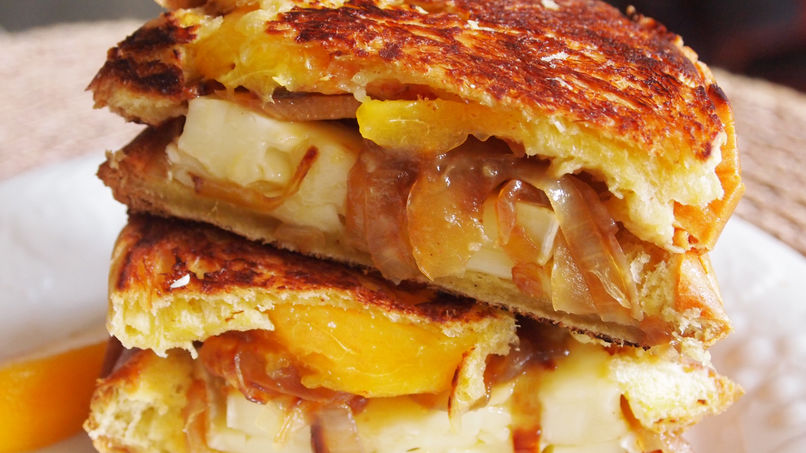 Brie and Peach Panini