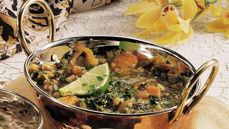 Multi-Lentil Persian Stew with Vegetables (Dhansaak)