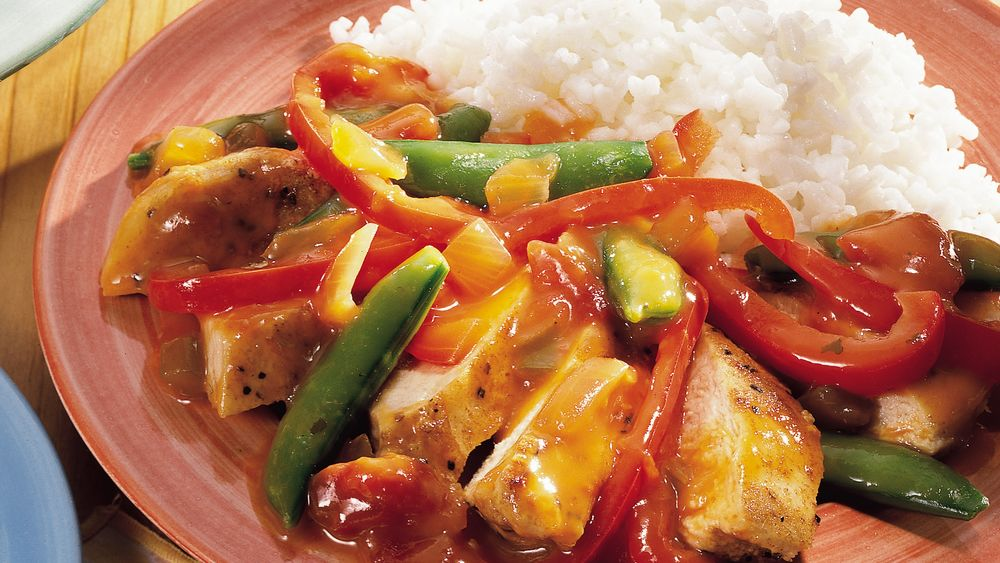 Orange-Cumin Chicken and Vegetables