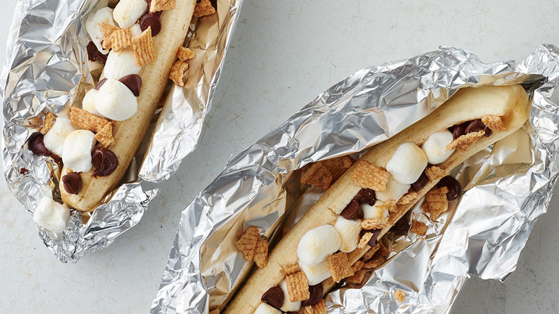 Grilled Chocolate Banana Foil Pack