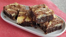 Coconut Swirl Brownies