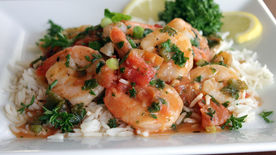 Spicy Shrimp Scampi with Muir Glen® Organic Tomatoes