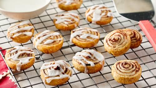 Mini Cinnamon Roll Cookies Recipe Pillsbury Com