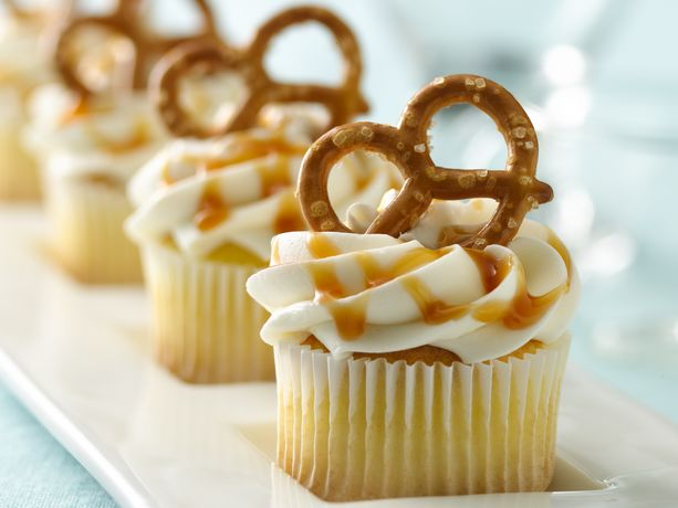 Mini Salted Caramel Cupcakes