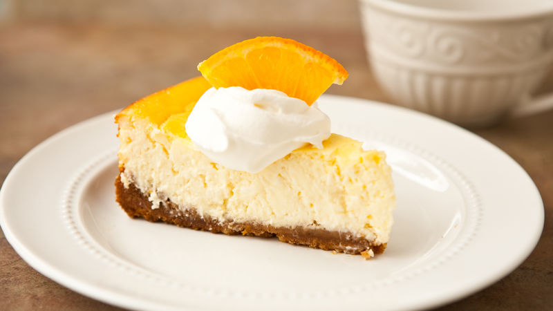 Orange Greek Yogurt Cheesecake