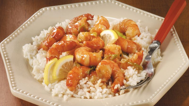 Stir-Fried Lemon-Garlic Shrimp