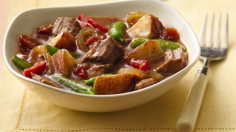 Slow Cooker Steak And Potatoes Dinner Recipe Bettycrocker Com