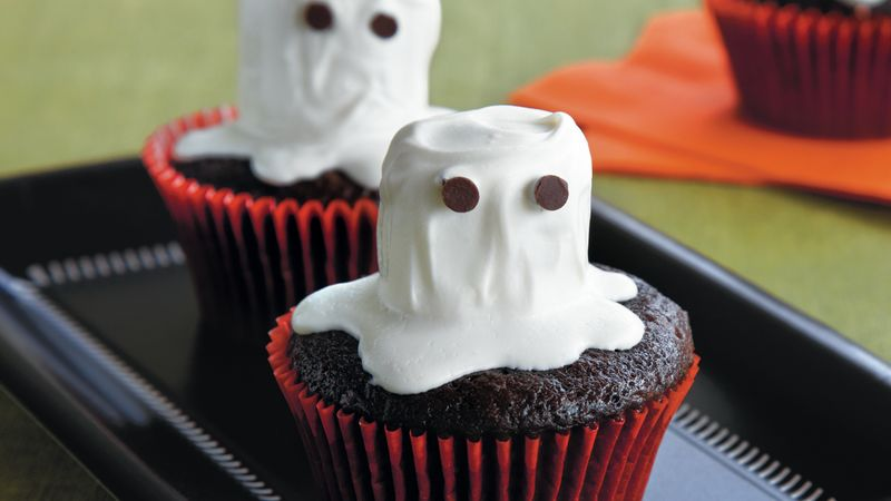 Halloween Ghost Cupcakes Recipe Bettycrocker Com