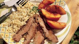 Grilled Flank Steak with Nectarines