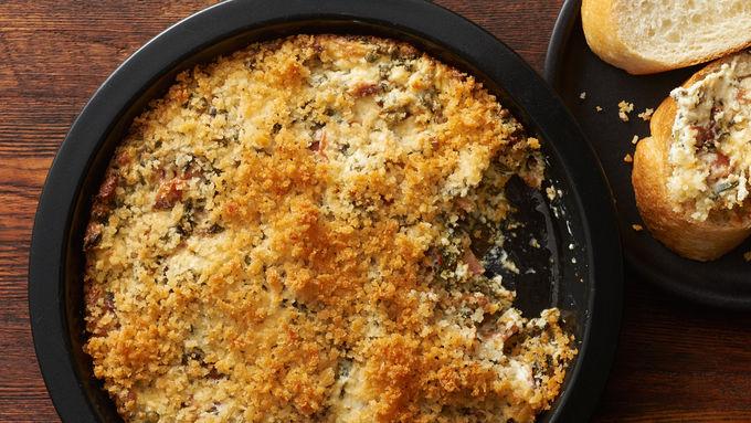 Creamy Feta, Bacon and Spinach Dip