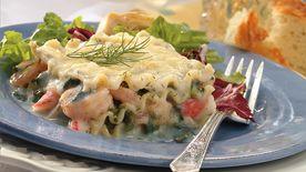 Creamy Seafood Lasagna Recipe Pillsburycom