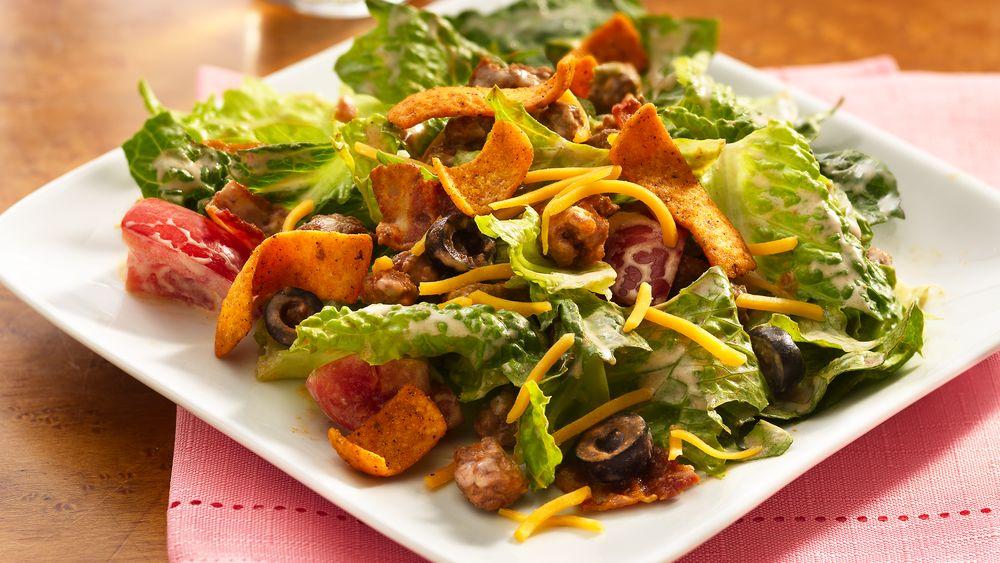 Southwestern BLT Taco Salad