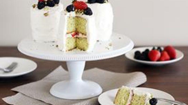 Mini Strawberry-Blackberry Poppy Seed Cakes