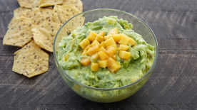 Peach Guacamole with Lime