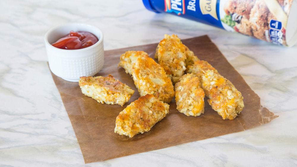 Cheesy Oven-Fried Cauliflower Tots