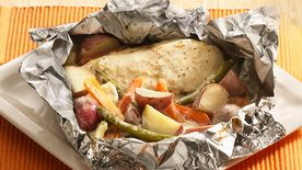Grilled Parmesan-Ranch Chicken Foil Packs