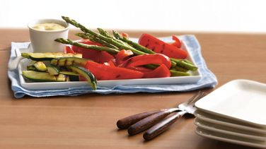 Grilled Veggie Platter with Ginger-Mustard Dip